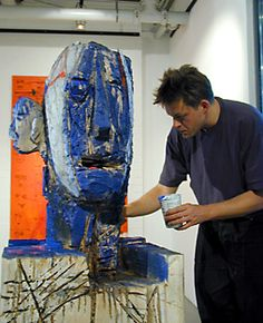 Rik van Iersel at work Artist Studios, Outsider Art, Galleries, Mythology, Contemporary Art, Folk, Van, Gardening, Painting