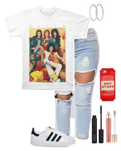 """""""Just Another Queen Fangirl"""" by nobledynasti ❤ liked on Polyvore featuring adidas, Kate Spade and Jane Iredale"""