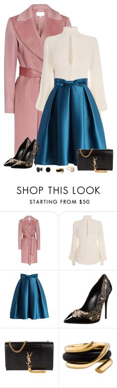 """""""So very weird."""" by tuomoon ❤ liked on Polyvore featuring Reiss, Alexander McQueen, Chicwish, Giuseppe Zanotti, Yves Saint Laurent, C. Wonder, Georg Jensen, Lily Blanche, polyvorecontest and pinkcoats"""