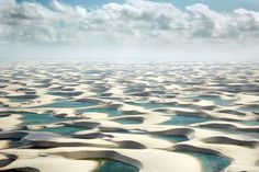 View of the lagoons in Lencois Maranhenses National Park, Jericoacoara in north-east Brazil. Photo by: Squire Fox