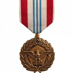 The Defense Meritorious Service Medal (DMSM) is an award presented in the name of the Secretary of Defense to members of the Armed Forces. It is the third-highest award that the Department of Defense issues, and is awarded to those who distinguish themselves though non-combat meritorious service or achievement, in a joint capacity. Created on November 3rd, 1977 by President Jimmy Carter's Executive Order 12019, it was first awarded to Major Terrell G. Covington of the United States Army.