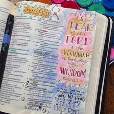 I think I need a journaling Bible now. And watercolors.