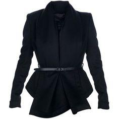 BURBERRY PRORSUM belted blazer - Polyvore