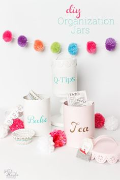 What a great DIY organization idea for the home. Love that this is a cheap and easy craft that leads to cute organization ideas.