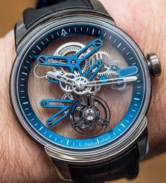 The amazing Skeleton Tourbillon Sapphire by Angelus Watches  . @dailywatchfix  Pic by @abtw_david  | #DailyWatchFix by dailywatchfix