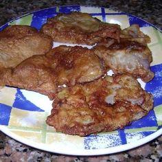 Escalopes fritos al disco de arado