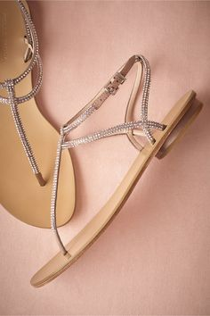 For after the ceremony. Or during - whatever floats your boat! Corsica Sandals from BHLDN