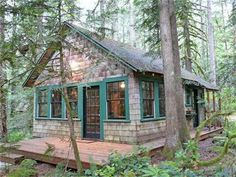 Here's the cabin I want. A leased-land Forest Service cabin on the way to Mt. Hood. And it's for sale. $160K.