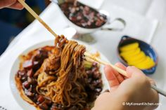 Korean Black Bean Sauce Noodles (Jajangmyeon) @My Korean Kitchen