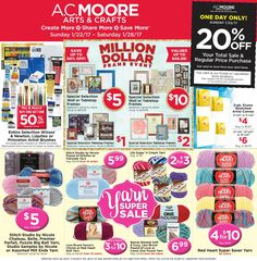 get access to some of the best craft deals at ac moore weekly craft deals allows you to gather your favourite craft items be it crayola yarns frames
