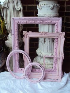 Shabby Chic Picture Frame Gallery by primitivepincushion on Etsy, $75.50