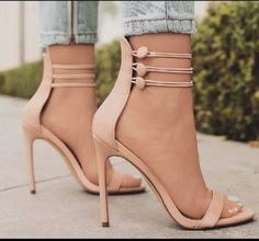 2017 New Sexy Gladiator Sandals Women High Heel Sandals High Heel Pumps High Heel Pumps, Pumps Heels, Stiletto Heels, Tan High Heels, Stilettos, Tan Sandals Heels, Nude Strappy Heels, Denim Sandals, Gladiator Shoes