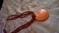 Costume copper tone fashion necklace