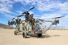 Black Knight Transformer。アメリカに拠点を構えるAdvanced Tacticsなる企業が発表したシステム。ローターによる垂直離着陸に対応するがオフロード車として使用可能とのこと。有人/無人での運用を行える。