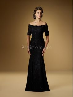 Sheath / Column Short Sleeves Lace Mother of the Bride Dresses Under 200