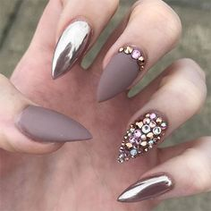 Image result for chrome nails