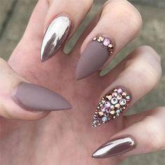 Image result for chrome nails