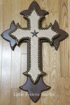 CRUCIFIXO on Pinterest - Decorating Wooden Crosses Ideas
