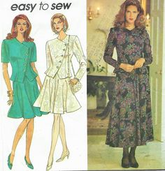 90s Simplicity Sewing Pattern 8118 Womens 4 Gore by CloesCloset