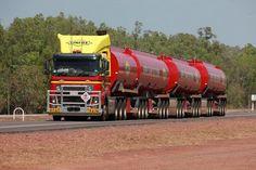 Linfox Truck, Stuart Highway near Palmerston, Northern Territory, Australia.