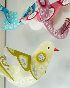 zimmer deko diy vogel saus papier selber basteln