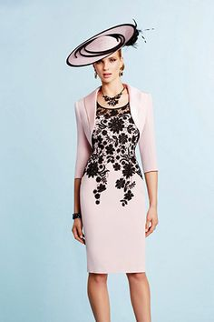 Ronald Joyce – 991031 – 02 A beautifully structured dress and matching bolero jacket in classic tones of Pink and Navy. The dress is fitted with gorgeous lace overlay detailing to the bodice and across the shoulders. The skirt is Read More...