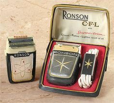 Vintage Collectible Ronson shavers atomic