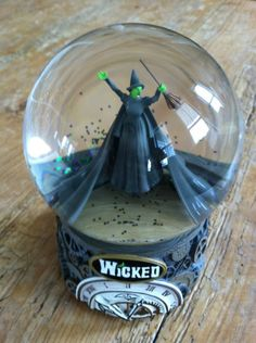 HAVE IT..and a Glenda one, too AND a Glenda and Elphie one.  They made it..I've got it! RARE-Wicked-Musical-Defy-Gravity-Snow-Globe