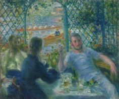 Pierre-Auguste Renoir, Lunch at the Restaurant Fournaise (The Rowers' Lunch), 1875,  Oil on canvas (via The Art Institute of Chicago)