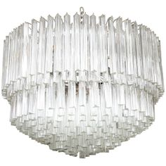 "1stdibs | Exquisite Camer Style Murano Glass Chandelier (36"" Diam.) Sconces Also Available"