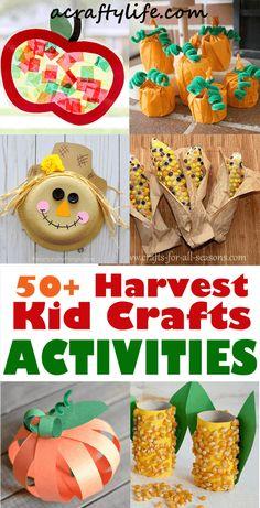 Harvest Crafts For Kids, Harvest Activities, Fall Crafts For Toddlers, Fall Preschool Activities, Preschool Crafts, Toddler Activities, Fall Arts And Crafts, Easy Fall Crafts, Thanksgiving Crafts
