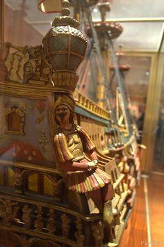 Modelo de Galeón Nuestra Señora de la Concepción y de las Ánimas. 90 cañones. 1687-1705.