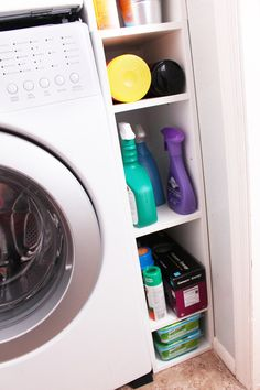 Heidi and Jon's house: organization ideas for tight laundry room spaces – After