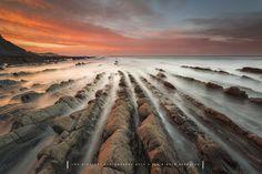 Leak Point, Flysch on Sakoneta Beach Spain, Europe.  By Jontake . . on 500px