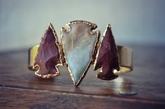 LUX Divine Three Arrowhead Bracelet /// Gold by luxdivine on Etsy, $130.00