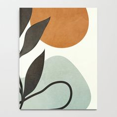 Soft Abstract Small Leaf Notebook by City Art - x Lined Small Canvas Paintings, Easy Canvas Art, Small Canvas Art, Mini Canvas Art, Modern Canvas Art, Modern Art Prints, Canvas Canvas, Contemporary Paintings, Abstract Line Art