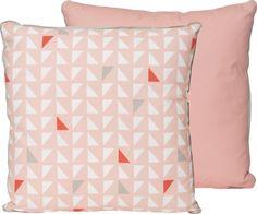 Kussen Triangles - PT2446 - Roze - pt,
