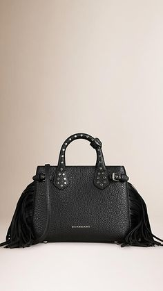 The Banner in fringed and studded grainy leather from Burberry. Discover the women's bags collection at Burberry.com