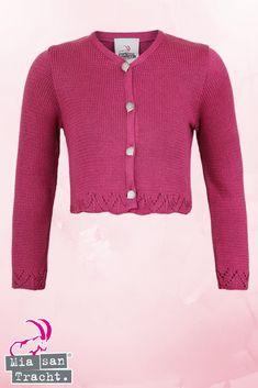 Mädchen Trachten-Strickjacke Dirndljacke pink - Trachtenjacken Mädchen  Kinder e4c9309868