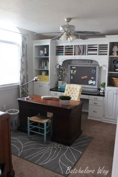 Batchelors Way: Office Reveal - Built In Book Shelves on a Budget