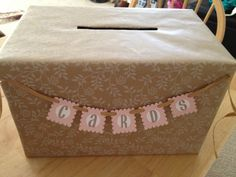 I Made This Gift Card Box For A Baby Shower Using My #cricut. Mini