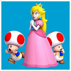 Super Mario and Friends and Family!!. #Princess Peach #Toads #Characters #Art #New Super Mario Bros U.