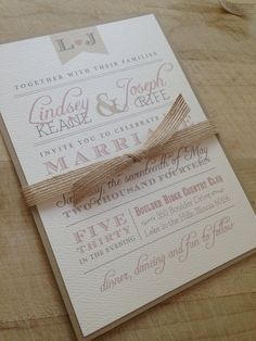Wedding Invitation Suite Sample // Rustic and Vintage // Elegant Invite // Twine and Burlap // Purchase this Listing to Get a Sample Set