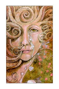 5.5 x 8.5 The Queen of Disks Tarot Print Maryel by MarieWhiteArt, $9.00
