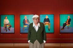 David Hockney, en la exposición.