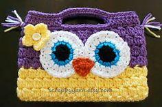 Resultado de imagen de crochet owl purse
