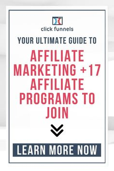 An extensive guide on affiliate marketing that includes a comprehensive list of 17 affiliate programs. Learn how you can make money with these awesome programs! Click through now! Email Marketing Services, Marketing Program, Sales And Marketing, Marketing Ideas, Business Marketing, Affiliate Marketing, Online Marketing, Online Business, How To Make Money