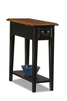 Leick Chair Side End Table, Slate Finish - Click image twice for more info - See a larger selection of end  tables at  http://zcoffeetables.com/product-category/end-tables/ - home, home decor, home ideas, living room, furniture, table ,gift ideas