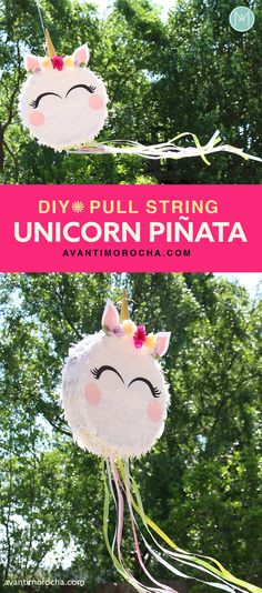 Make your next party a smashing success with one of these easy to make DIY Pinatas. With simple supplies you can build a pinata to fit any party theme. Birthday Pinata, Unicorn Themed Birthday, Birthday Crafts, Unicorn Diy, Diy Unicorn Party, Kids Party Decorations, Party Themes, Party Ideas, Diy Party