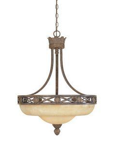 Designers Fountain Lighting 97831 VBG Carlisle Collection Three Light Hanging Pendant Chandelier in Venetian Bronze Finish | Quality Discount Lighting